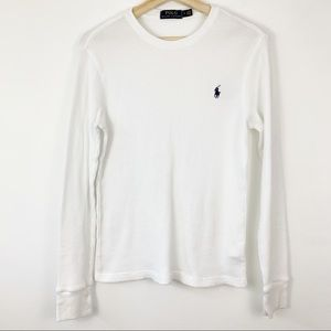 Polo Ralph Lauren | White Thermal Crewneck Shirt